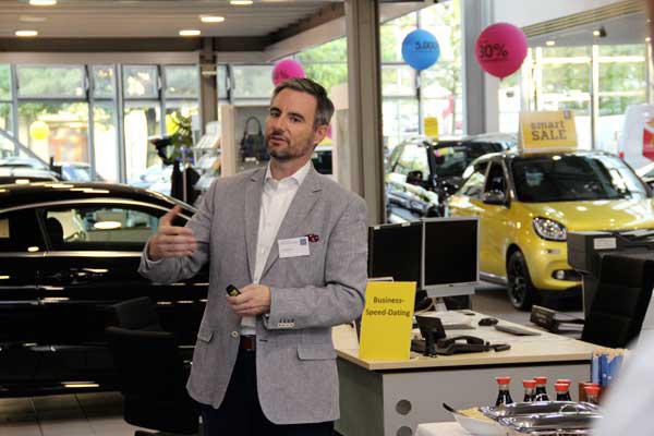 Jon Püschel, Gastgeber beim Business-Speeddating der Initiative Reinickendorf