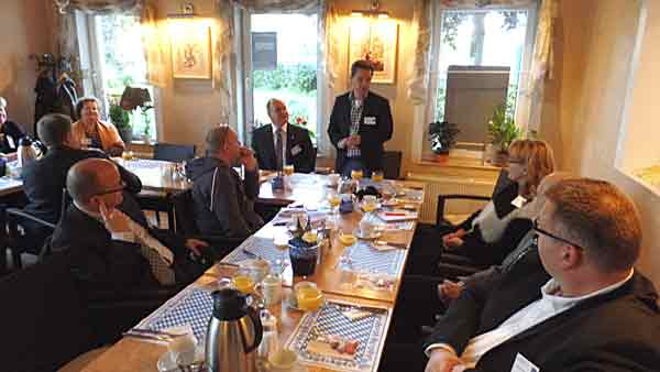 Mitglieder und Gäste der Initiative Reinickendorf beim 2. Unternehmerfrühstück am 28.3.2017