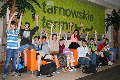 """Deutsch-polnischer Jugendaustausch im Aquapark """"Tarnowskie Termy"""""""