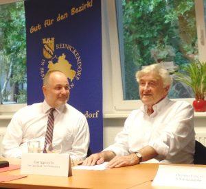 Jürn Jakob Schultze-Berndt, Gerd Appenzeller bei der Mitgliederversammlung der Initiative Reinickendorf